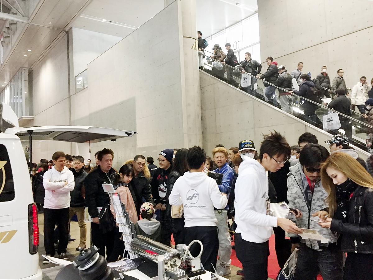 東京オートサロン2018 エアサスブース展示 デモンストレーション 来場者数