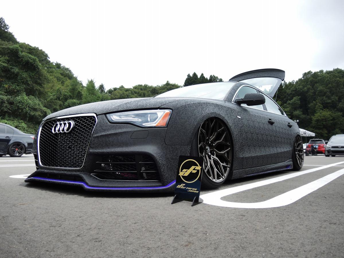 hadowblack ラッピング アウディ Audi A5  エアサス カスタム