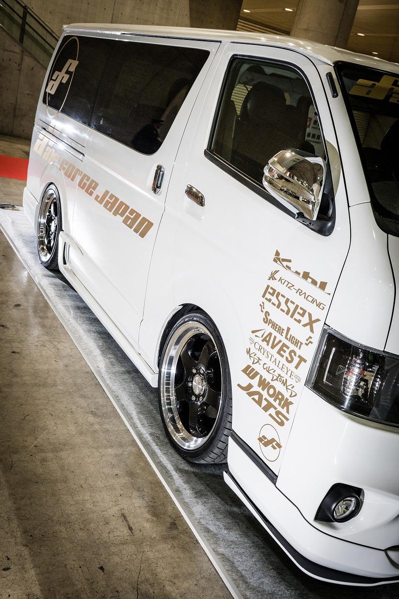 東京オートサロン2018 デモカー ハイエース エアサス