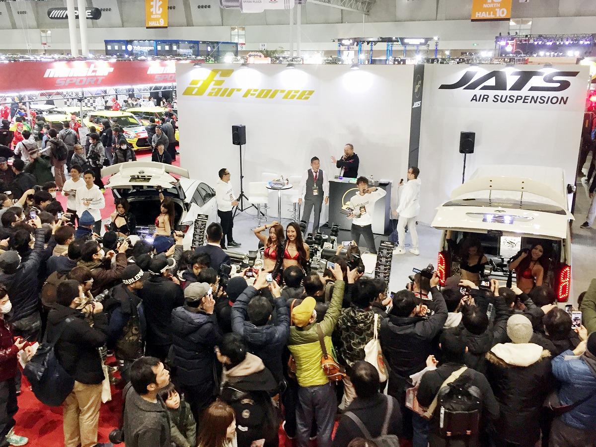 東京オートサロン2018 エアサスブース展示 キャンギャル