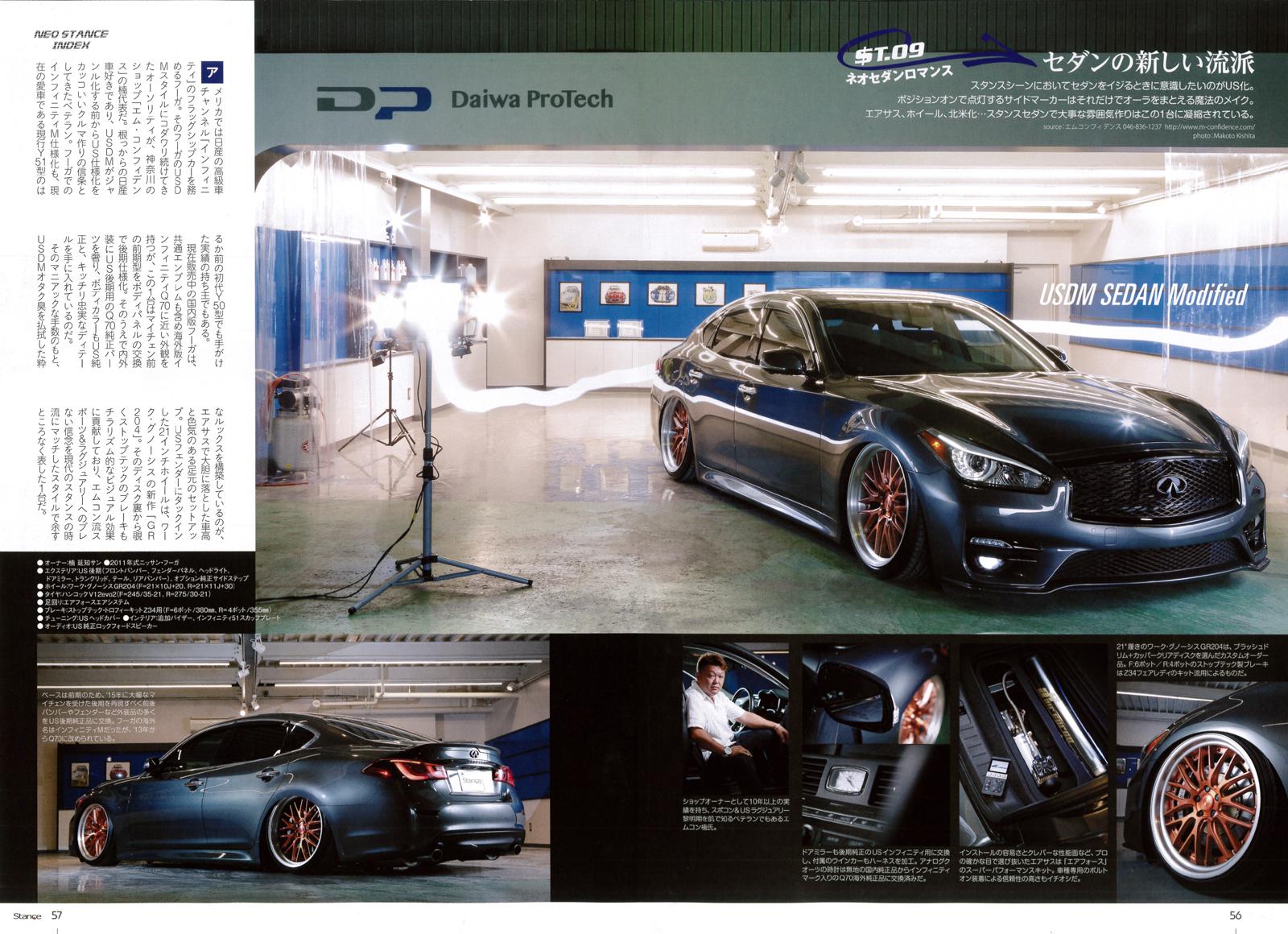 スタンスマガジン Stance Mag 掲載車 フーガ